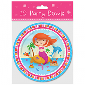 Mermaid Party Bowls pk10