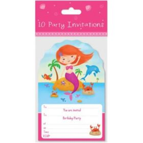Mermaid Party Invitations pk10