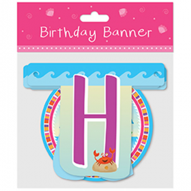 Mermaid Party Letter Banner