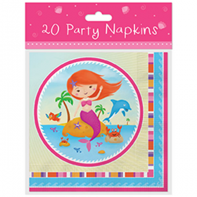 Mermaid Party Napkins pk20