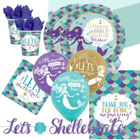 Mermaid Wishes Deluxe Party Pack for 16