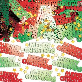 Merry Christmas Type Metallic Confetti Mix 14g