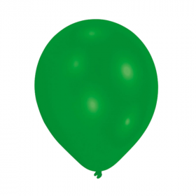 Metallic Green Latex Balloons 9""