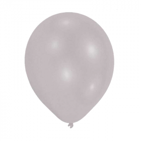 Metallic Silver Latex Balloons 9""
