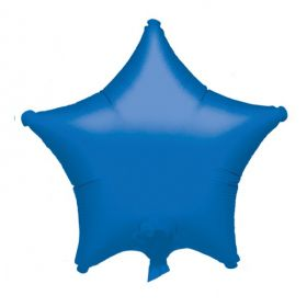 Metallic Blue Star Foil Balloon