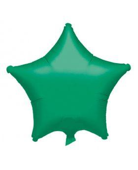 "Metallic Green Star Foil Balloon 18"""