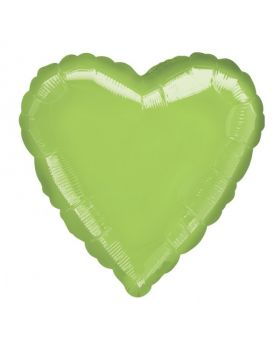 Metallic Lime Green Heart Foil Balloon