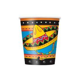 Mexican Fiesta Paper Cups 270ml, pk8