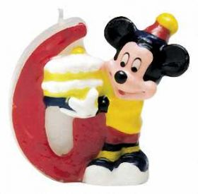 Mickey Mouse Party Candle No.6