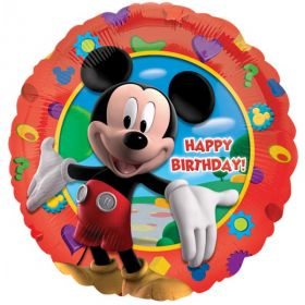 Mickey Mouse Party Happy Birthday Foil Balloon 17''