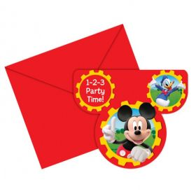 Mickey Mouse Party Invitations pk6
