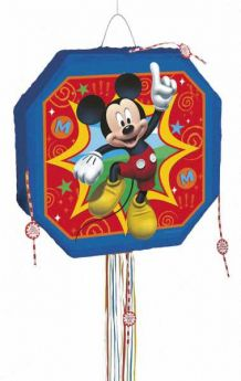 Disney Mickey Mouse Pull String Party Pinata 17""