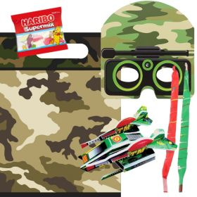 Filled Army Themed Party Bags