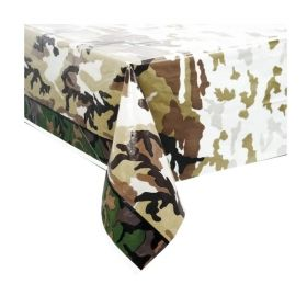 Military Camo Plastic Tablecover 1.37m x 2.13m