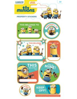 Minions Property Stickers