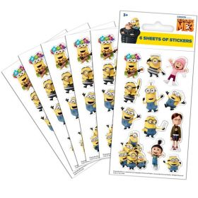 Minions Party Bag Stickers, pk6