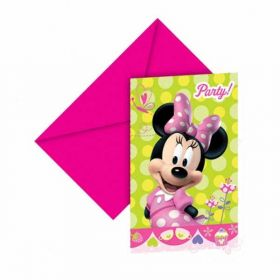 Minnie Mouse Bow-Tique Party Invites pk6