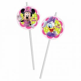 Minnie Mouse Bow-Tique Medallion Party Straws 6pk