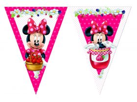 Minnie Jam Packed Plastic Party Flag Banner 2.3m