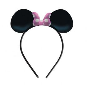 Minnie Mouse Ears & Bow Card Headbands pk4