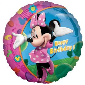 Minnie Mouse Happy Birthday Foil Balloon 18''