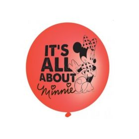 Minnie Mouse Red Punch Balloons, pk4