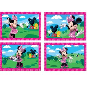 Minnie Mouse Pink Jigsaw Puzzles, pk4