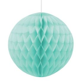 Mint Green Honeycomb Ball Party Decoration 20cm