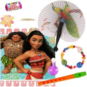 Filled Moana Party Bags