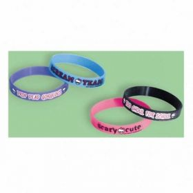 Monster High Rubber Bracelets, 4 Pack