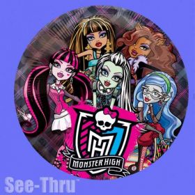 Monster High See-Thru Superhape Foil Balloon