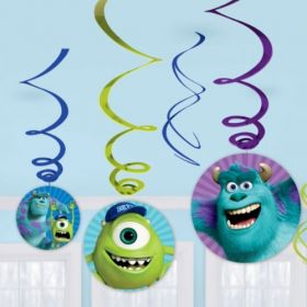 Monsters University Swirl Party Decoration Pack 6pk