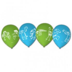 Monsters University Characters Story Latex Party Balloons 6pk