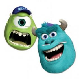 Monsters University Party Face Masks 4pk