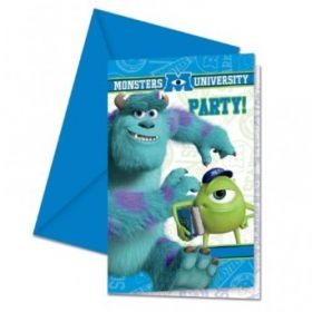Monsters University Party Invites & Envelopes 6pk
