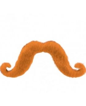 Fake handlebar moustache, Orange
