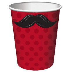 Moustache Madness Paper Cups, 8pk