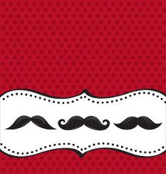 Moustache Madness Plastic Tablecover