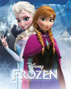 Large Frozen Anna & Elsa Poster 36''