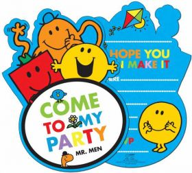 Mr Men Party Invitations pk6
