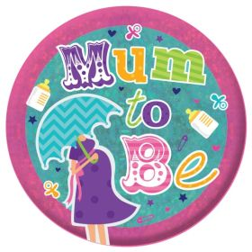 Mum to Be Holographic Badge