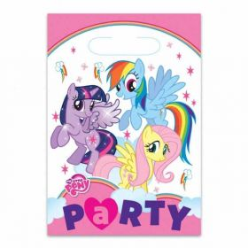 My Little Pony Rainbow Plastic Party Bags pk8
