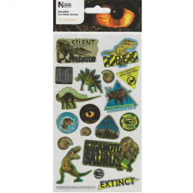 Natural History Museum Dinosaurs Large Foil Stickers