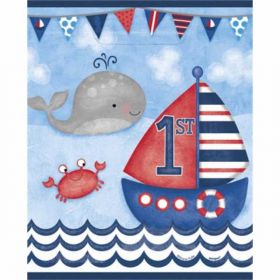 Nautical 1st Birthday Party Bags pk8