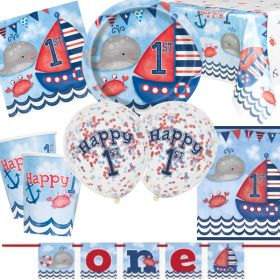 Nautical 1st Birthday Ultimate Party Kit for 8