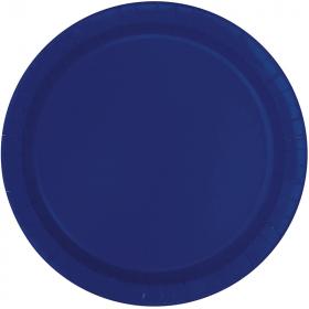 True Navy Blue Paper Plates 23cm, pk16