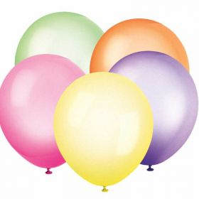 Neon Balloon Assorted colours pk10