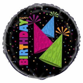 "80's Neon PartyBirthday Foil Balloon 18"" 45.7cm"