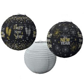 Happy New Year Lantern Decorations, pk3