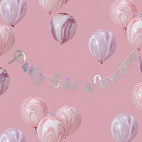 Iridescent Party ''Make A Wish'' Backdrop Bunting